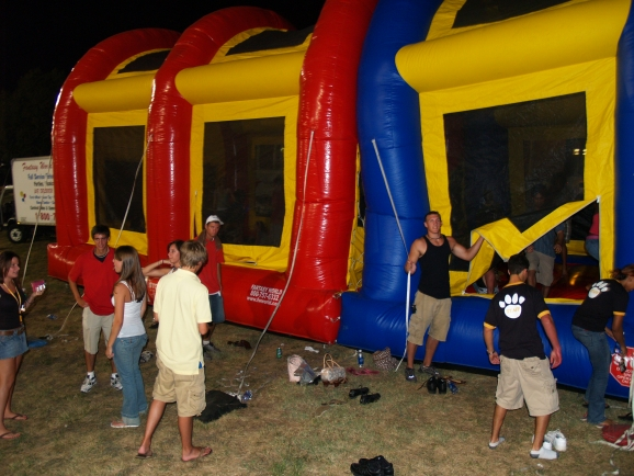 College inflatable games