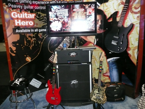 Trade Show Traffic Building Guitar Hero Setup