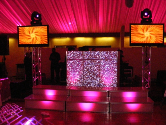 DJ Setup with Plasmas