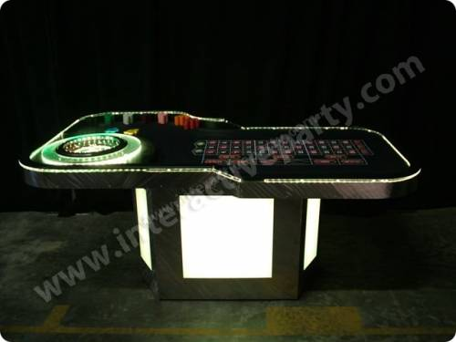Lighted Roulette Table